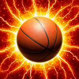 Glowing basketball Royalty Free Stock Photo
