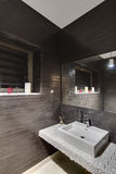 Glowing bathroom in modern style Royalty Free Stock Photos