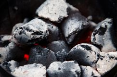 Glowing bbq coal Stock Images