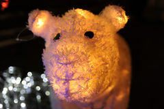 Glowing bear. Royalty Free Stock Photo