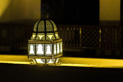 Glowing beautiful lantern in night Royalty Free Stock Photos