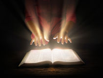 Glowing Bible Royalty Free Stock Image