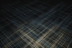 Glowing big data lines and technological background, 3d rendering vector illustration