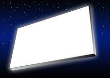 Glowing billboard Royalty Free Stock Photos