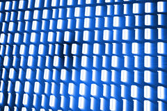 Glowing binary code on blue background. Digitally generated glowing binary code on blue background Royalty Free Stock Photos