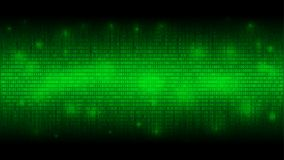Glowing binary code, matrix green abstract background, cloud of big data, stream of information stock illustration