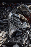Glowing black charcoal texture background close up royalty free stock image