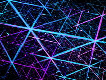 Glowing blue connection lines in space Stock Images