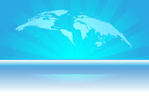 Glowing blue earth design Stock Photo