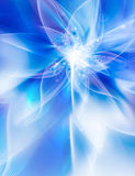 Glowing blue flower Royalty Free Stock Photo