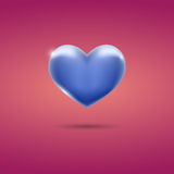 Glowing blue heart on pink background. Eps10 Stock Photography