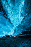 Glowing blue ice Royalty Free Stock Images