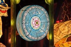 Glowing blue lantern Royalty Free Stock Photos