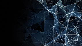 Glowing blue network background Stock Photo