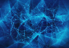 Glowing blue network mesh Stock Images