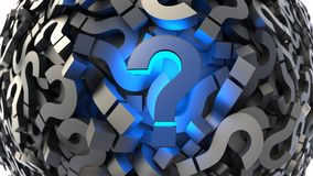 Black and blue question marks Stock Images