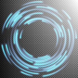 Glowing Blue rings trace. EPS 10 Royalty Free Stock Photography