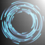 Glowing Blue rings trace. EPS 10 Royalty Free Stock Photos