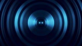Blue Round Circular Waves Tunnel VJ Loop Motion Background V1. Glowing Blue Round Circular Waves Tunnel VJ Loop Motion Background V1 Backdrop stock video