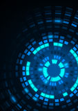 Glowing Blue Segmented Circles Stock Images