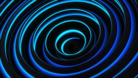 Glowing blue spiral 3D shape Royalty Free Stock Photos