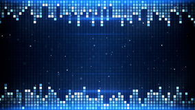 Glowing blue squares frame Stock Photography