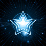 Glowing blue star Royalty Free Stock Photography