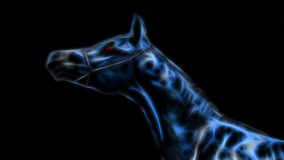 Glowing Blue Tiger Stock Photo