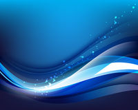 Glowing blue wave concept background Stock Photography