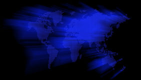 Glowing Blue World Map Royalty Free Stock Photography