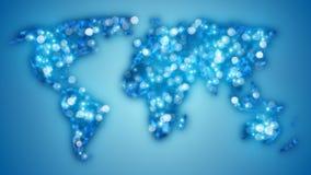 Glowing blurred world map Royalty Free Stock Photo