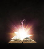 Glowing book Stock Photo