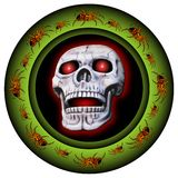 Glowing border with skull Stock Photography