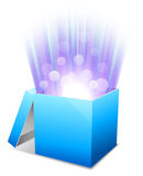 Glowing box. Stock Images