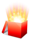 Glowing box. Royalty Free Stock Image