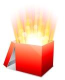 Glowing box. Royalty Free Stock Image