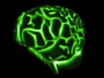 Glowing brain Stock Photos
