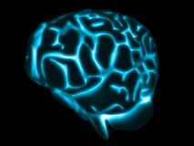 Glowing brain vector illustration