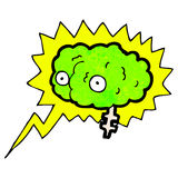 Glowing brain cartoon Royalty Free Stock Photography
