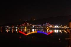 Glowing bridge Stock Image