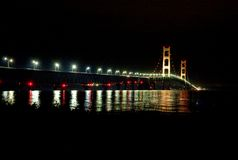 Glowing bridge Stock Photography