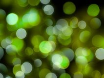 Glowing bright green round blurred lights abstract night background royalty free stock images