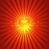 Glowing Bright Heart Background Stock Photos