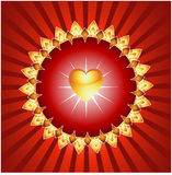 Glowing Bright Heart Background Stock Photography