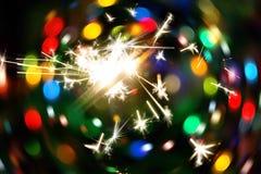 Bright holiday sparkler stock illustration
