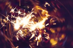 Bright holiday sparkler royalty free stock image