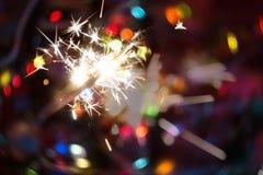 Bright holiday sparkler royalty free stock photo
