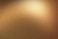 Glowing brushed bronze metal wall, abstract texture background stock illustration