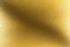 Glowing brushed golden metal wall, abstract texture background vector illustration