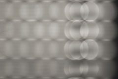 Glowing bubbles. Abstract defocus image of light passing through a rolling shutter Royalty Free Stock Photo